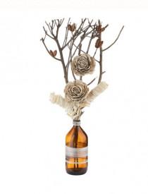 Buchet decorativ de flori uscate în sticlă - 50 cm