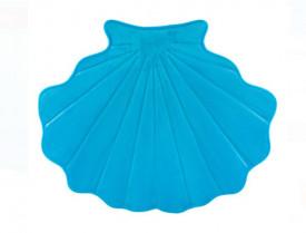 Covoras de baie pentru copii - scoica albastra - 60x50 cm