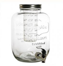 Borcan cu robinet, capac si rezervor gheata - 5L