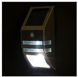 Lanternă de perete cu senzor lumina LED albă 7,5x5x17 cm