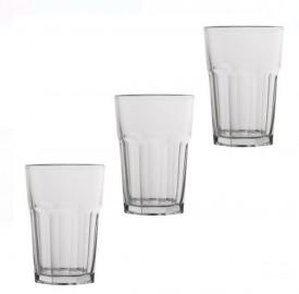 Set pahare din sticlă transparentă 3 buc