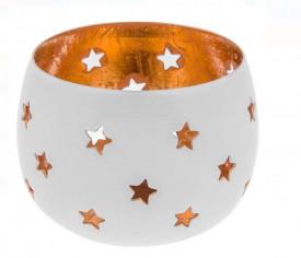 Suport pentru lumnare din metal perforat cu stele