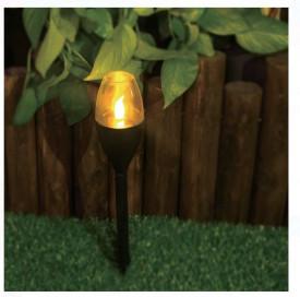 Lampa solara LED cu efect de flacără 6x38 cm
