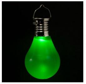 Lampă solară suspendată cu baterie reîncărcabilă și LED verde