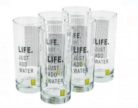 Set de pahare apa LIFE - 6 buc