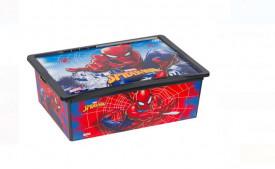 Cutie de depozitare cu capac din plastic - SPIDERMAN 25 L