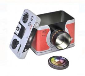 Cutie de depozitare metalica - model Camera Foto 18x10,5x12 cm