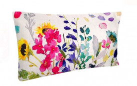 Perna decorativa cu imprimeu floral de vara