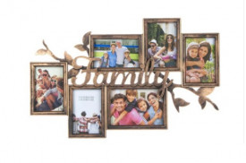 Rama foto de familie din bronz, 60x38x3 cm