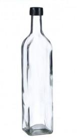 Recipient din sticlă pentru ulei cu capac ce se infileteaza 250 ml