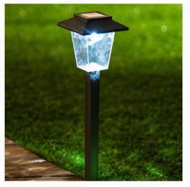 Lanternă solară din vitralii pătrate cu baterie reîncărcabilă