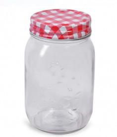 Borcan cu capac din sticlă 500 ml.