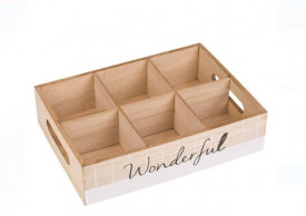 Cutie de depozitare din lemn 26,5x18,5x6,5 cm
