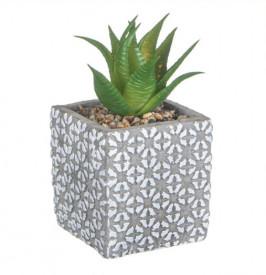 Ghiveci decorativ din ceramică cu flori in relief - 9 cm