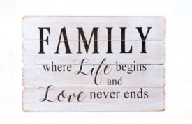 Panou cu mesaj - FAMILY - 60x40cm