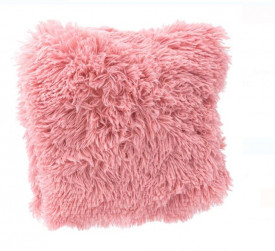 Perna decorativa blana artificiala roz