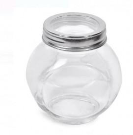 Set 3 borcane din sticlă cu capac metalic 200 ml