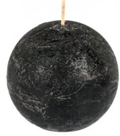 Lumanare Bila, Aromata Fructe de padure. Neagra, 8x8 cm