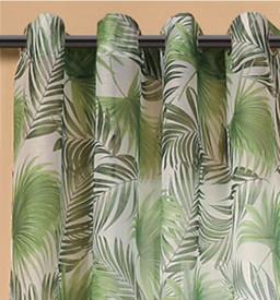 Perdea translucida, model frunze verzi, 140x260 cm