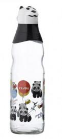 Sticlă cu elemente din plastic și panda imprimat