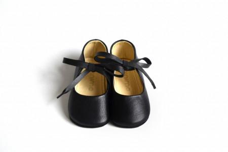 Crne kožne sandalice za bebe MJK003CRN