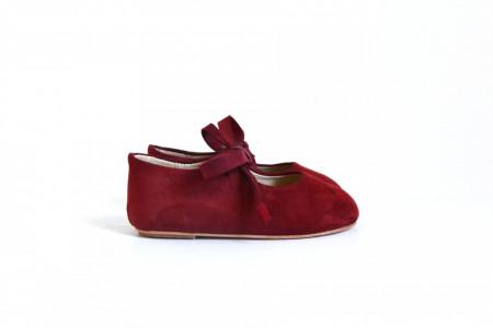 Crvene cipele od prevrnute kože za devojčice MJHVK003-BRD