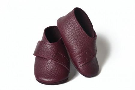 Slika Kožne cipelice za bebu / tamno ljubičaste