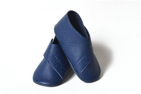 Slika Kožne cipelice za bebe / tamno plave