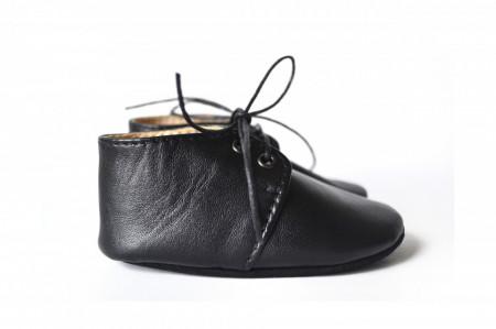 Slika Nehodajuće kožne cipele za bebu / crne
