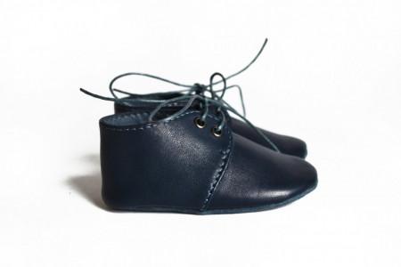 Nehodajuće kožne cipele za bebu / teget