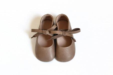 Svetlo braon kožne sandalice za bebe MJK003SPB