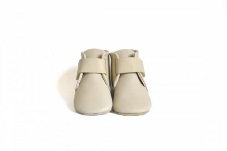 Bež kožne duboke cipele za bebu CDNKK003IVR