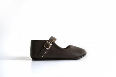 Slika Kožne sandale za bebu / sive