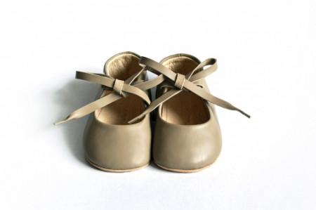 Slika Baletanke za bebu / bež-sive
