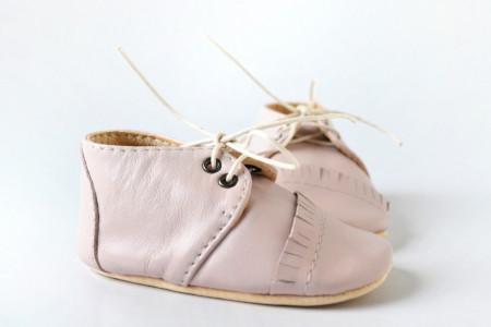 Slika Nehodajuće kožne cipele za bebu / svetlo roze