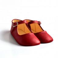 Kožne sandale za bebu / crvene