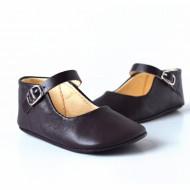 Kožne sandale za bebu / tamno ljubičaste