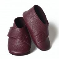 Kožne cipelice za bebu / tamno ljubičaste
