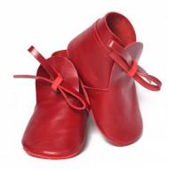 Nehodajuće kožne čizmice za bebe / crvene