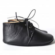 Nehodajuće kožne cipele za bebu / crne