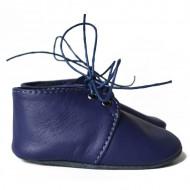 Nehodajuće kožne cipele za bebu / tamno plave