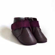 Kožne duboke cipele sa filcom i krznom za bebu CDNKK003LUB