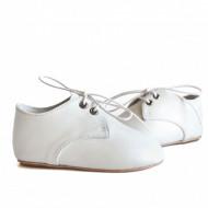Kožne dečije cipele / bele