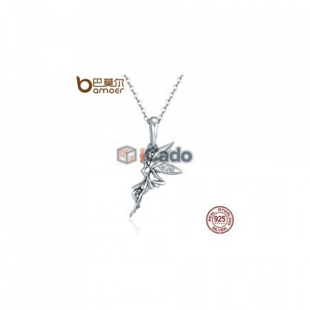 Colier din argint Flower Fairy Long Necklace - BAMOER Authentic 100% 925