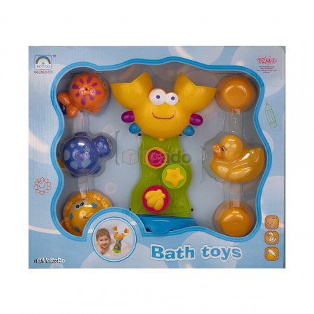 Crabul și prietenii, jucărie pentru baia copiilor (8815) poza 2