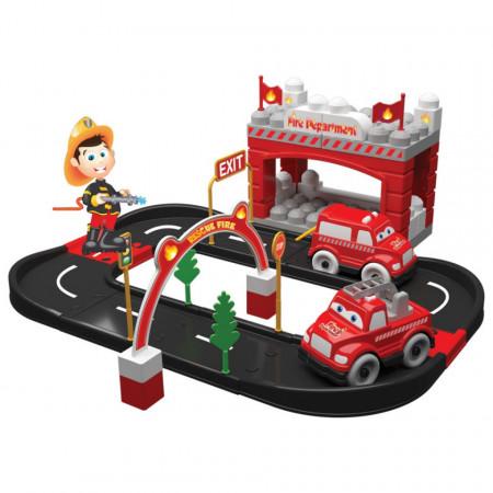 Departament de Pompieri din 52 piese Magic Blocks
