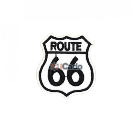 Emblema brodata Route 66 6.5x7.5cm