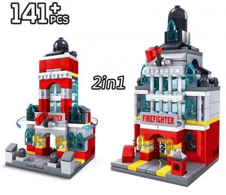 Fire Department format din 141 Piese de la KAZI model KY5004 poza 2