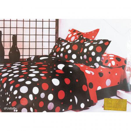 Lenjerie de pat cu 6 piese din bumbac finet dimensiune 250 x 230 cm LP6PF-27