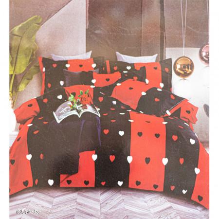 Lenjerie de pat cu 6 piese din bumbac satinat 250 x 230 cm LP6P-18